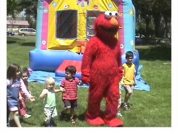 Elmo party character rentals in Carrollton Texas